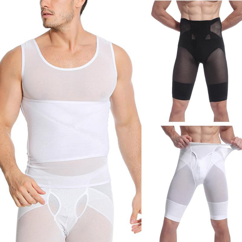 Shaper for Gentlemen High Waist Compression Shaper Pants Slimming Quick Dry Body Shaping Pants KH889