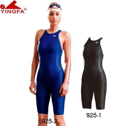 Yingfa FINA kadınlar Artı boyutu XS-XXXL için tek parça yarışması mayo sharkskin yarış mayo yüzme yarışması Onaylı