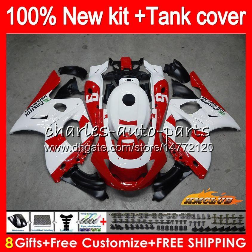 Thundercat dla Yamaha Czerwony Biały Hot YZF600R YZF 600R C 72HC.189 YZF-600R 1996 1997 1998 1999 2000 2001 2002 2003 2004 2004 2005 2006 2007 Owalnia