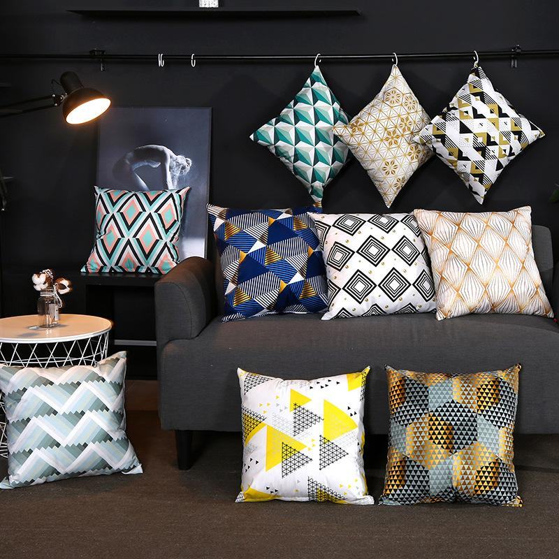 Nordic style Geometric pattern Cushion Cover for Home Decorative Pillow Case and Pillow Cover double side printed Pillowcases