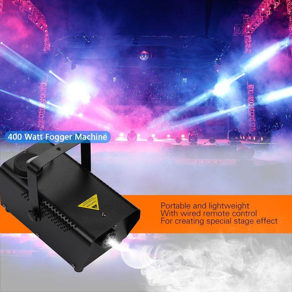 Macchina da fumo della nebbia della nebbia della luce del fendinebbia della luce del laser portatile con il consolo remoto cablato per la discoteca DJ del partito del partito di concerto dal vivo KTV