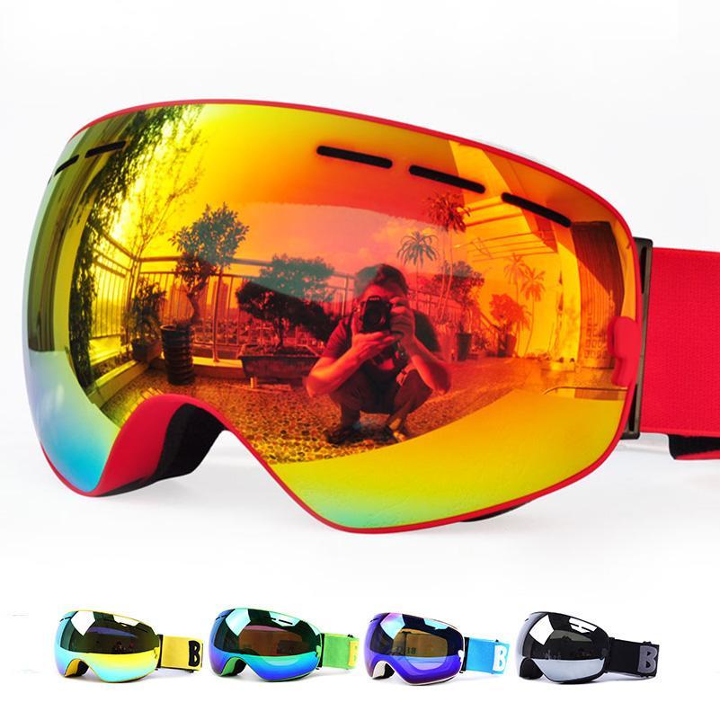 GOG-3100 Двойных слоев UV400 анти-туман поляризованных лыжных очков для мужчин, женщин большого лыжных масок очки для катания на лыжи шлют снега сноуборда