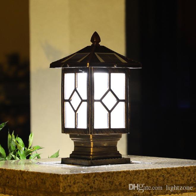 Poster un nouveau de l'énergie solaire lampes d'extérieur étanche IP65 lampes de jardin or lampes solaires blanc chaud paysage conduit luminaire d'éclairage après
