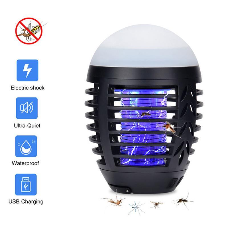 Karşıtı Sivrisinek 1 adet Şarj Yaz Kamp Karşıtı sivrisinek lambası Ev Açık Elektrikli Su geçirmez Sivrisinek Tuzağı Fener USB