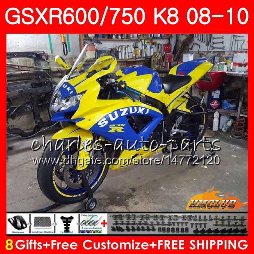 Bodywork Camel Blue Stock Stock per Suzuki GSX-R600 GSXR-750 GSXR600 2009 2009 2010 90 9HC.62 GSXR750 GSX R750 R600 K8 GSXR 600 750 08 09 10 Fairings