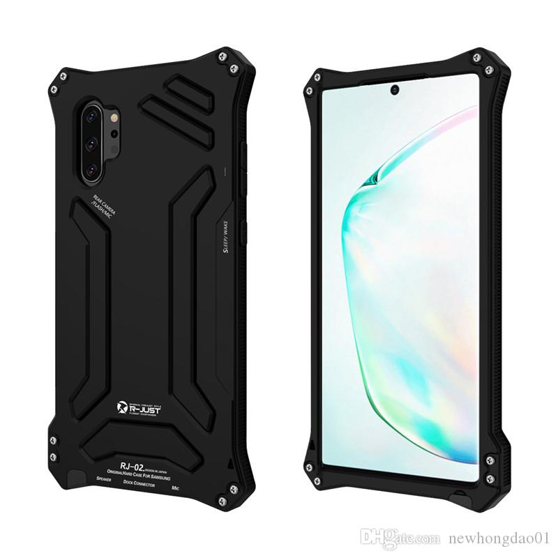 R-JUST cases for Samsung Note 10 Plus 9 S9 S10 Aluminum Splashing water/Anti-dusty/Anti-shock Phone metal Covers