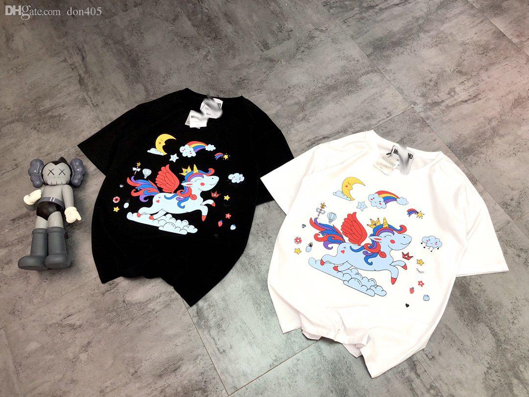 New Arrival paris mens womens 2020 luxurious designer Rainbow pony print tshirt summer clothes t shirts Size S-L 6.4