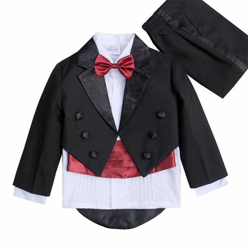 boy formal suits set gentleman style tuxedo suit set for 1-6years boys kids piano performance suit 3pcs set outerwear