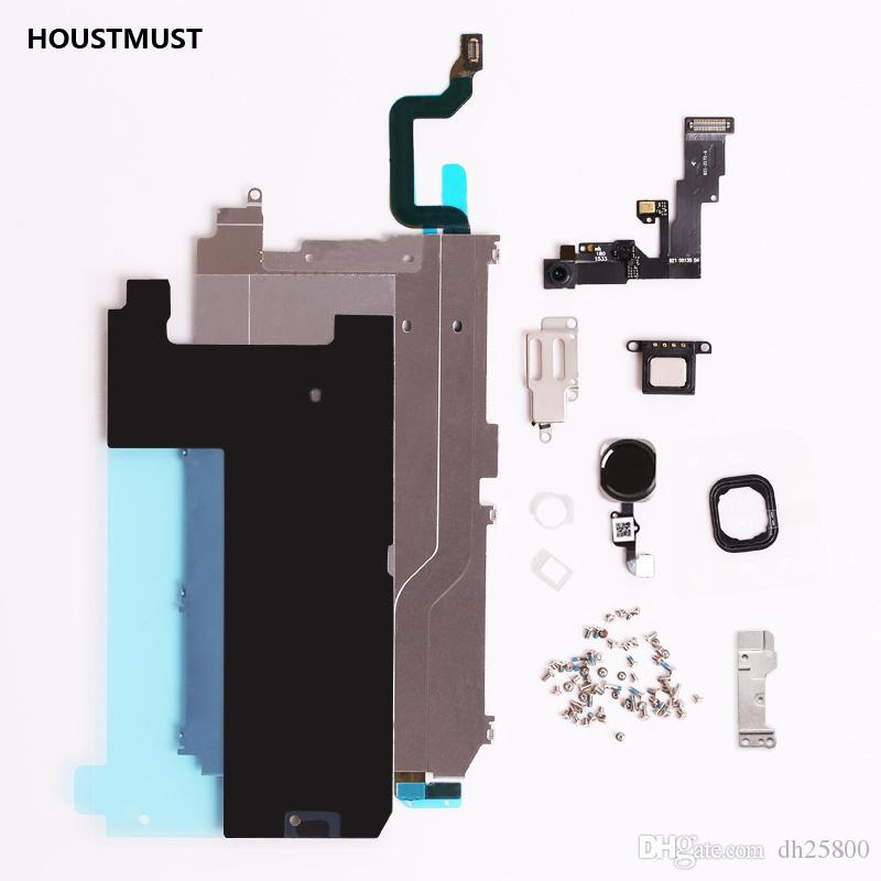 Full Set Repair Parts For iphone 6 l LCD Display Repair Parts Front Camera Ear Speaker Plate home button for iphone 6