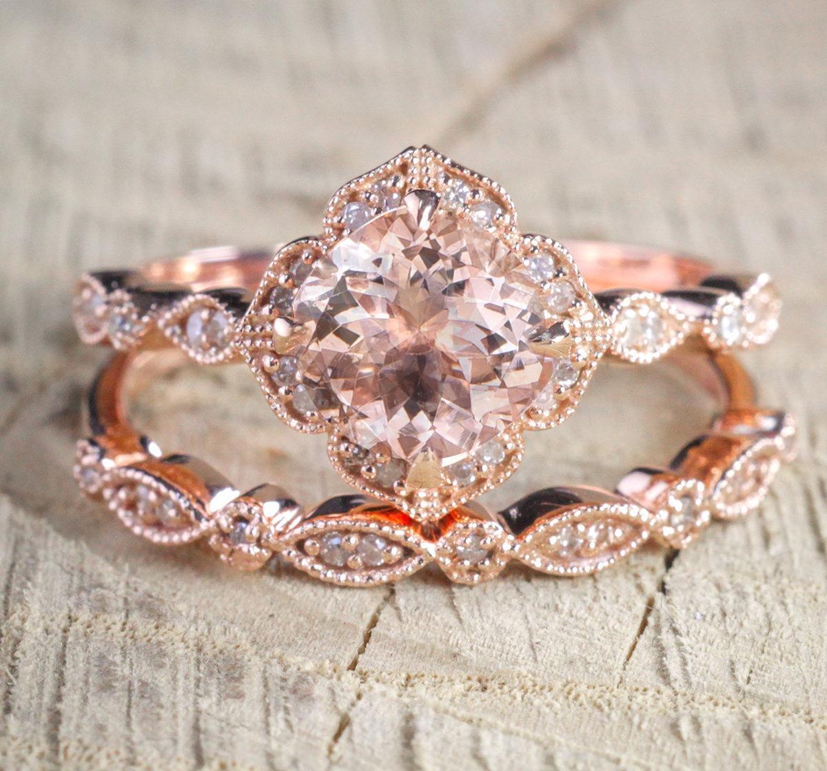 Europeo quadrato Zircone Set anelli placcato oro rosa colore elegante fascino di fidanzamento anello di fidanzamento gioielli per le donne anel feminino