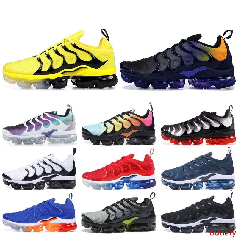 Además Diseñador TN Hombres Mujeres zapatillas Hyper azul Sunset Game Real ultra blanca Negro Mejor TN Formadores deporte de los zapatos corrientes de 5-11