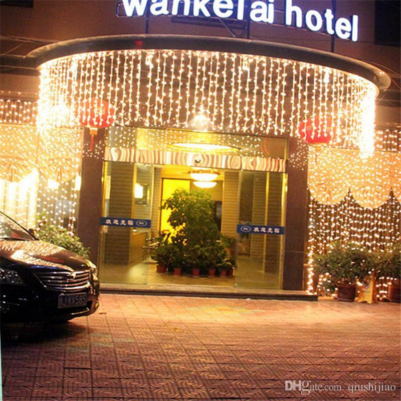 10 متر × 1 متر 448 مصابيح أضواء led الستار الزفاف خلفية ضوء الستار مصابيح الجنية حزب حديقة فندق أضواء عيد الجليد الولايات au au uk المكونات
