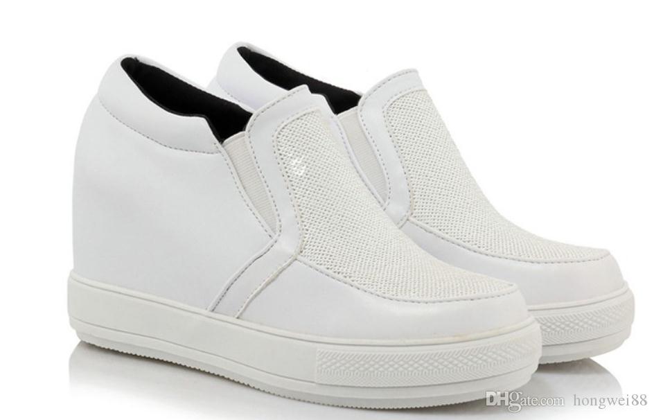2019 kadın ayakkabı ile İlkbahar ve Sonbaharda Yeni stil Eğim topuk Kalın alt yuvarlak kafa su geçirmez masa @ 05