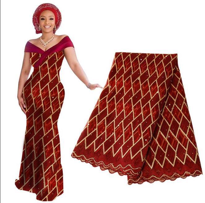 Последние African бисером Лоскутное ткань шнурка 2019 французский Тюль Вуаль кружева для свадебного банкета Вышитые Нигерийский Lace ткани BF0014