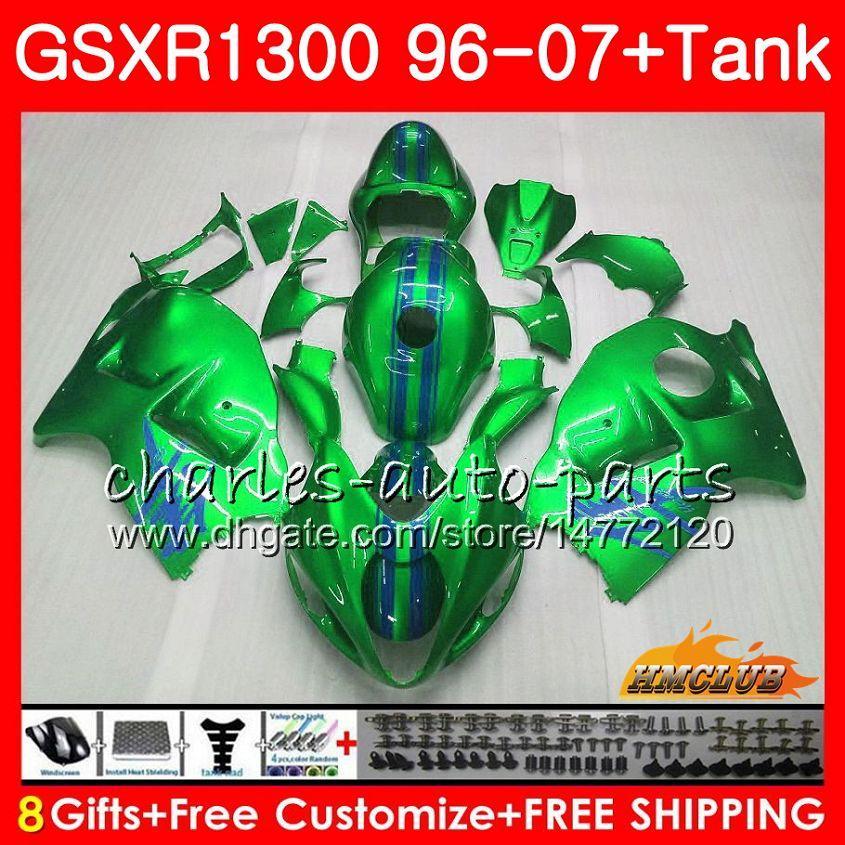 Комплект для SUZUKI GSXR 1300 1996 2002 2003 2004 2005 2005 2006 24HC.158 GSXR-1300 Hayabusa светло-зеленый GSXR1300 96 02 03 04 05 06 07 Обтекатели