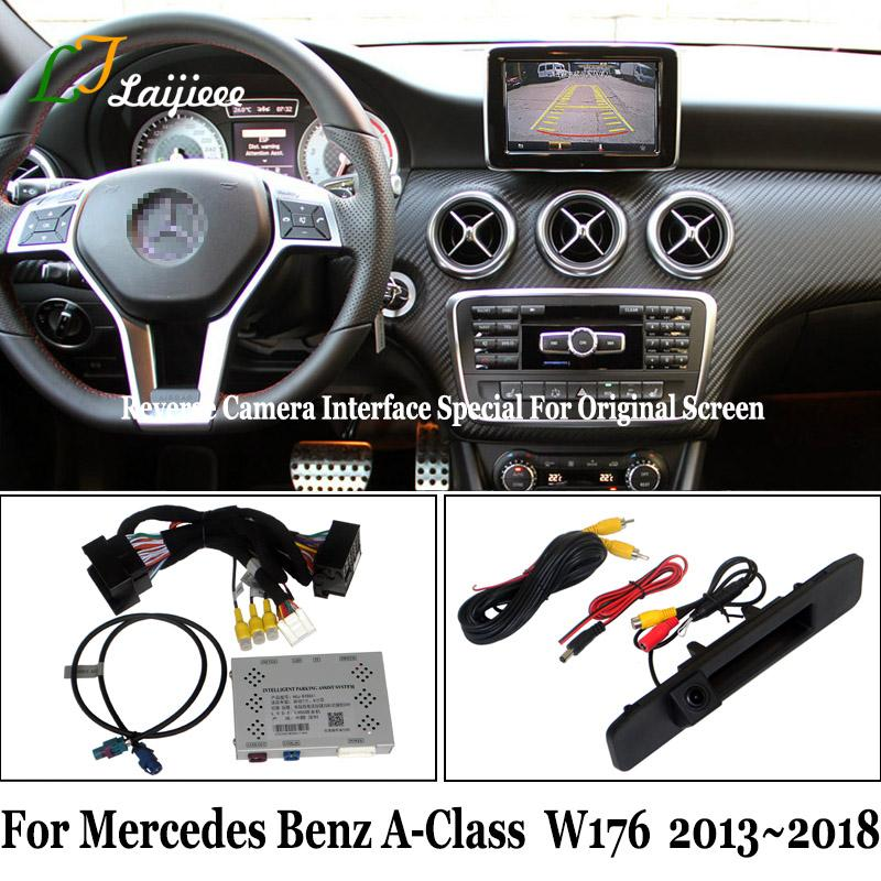For A Class W176 2013~2020 Reverse Camera Kit / HD Rear View Parking Camera Update OEM Screen No Need Programming car