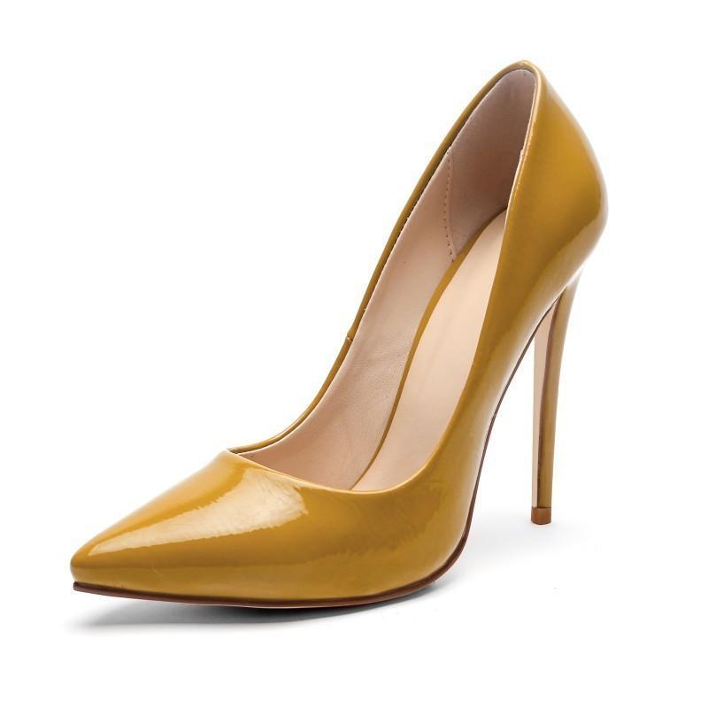 Son Moda Tek Will Kod Kadın ayakkabı Sarı Yeşil Ziyafet Yuvası ile Hot2019 Xi Ji Yüksek
