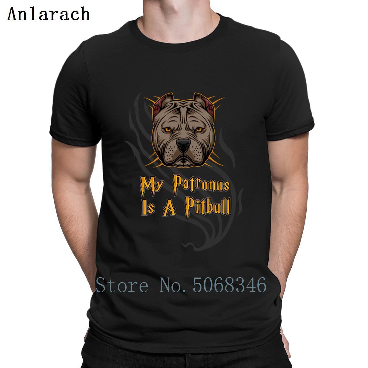 Pit Bull Benim Patronus Is A Pitbull Tişörtlü Pictures Yuvarlak Yaka Ünlü Örme Yaz Pamuk Komik Casual Normal Gömlek