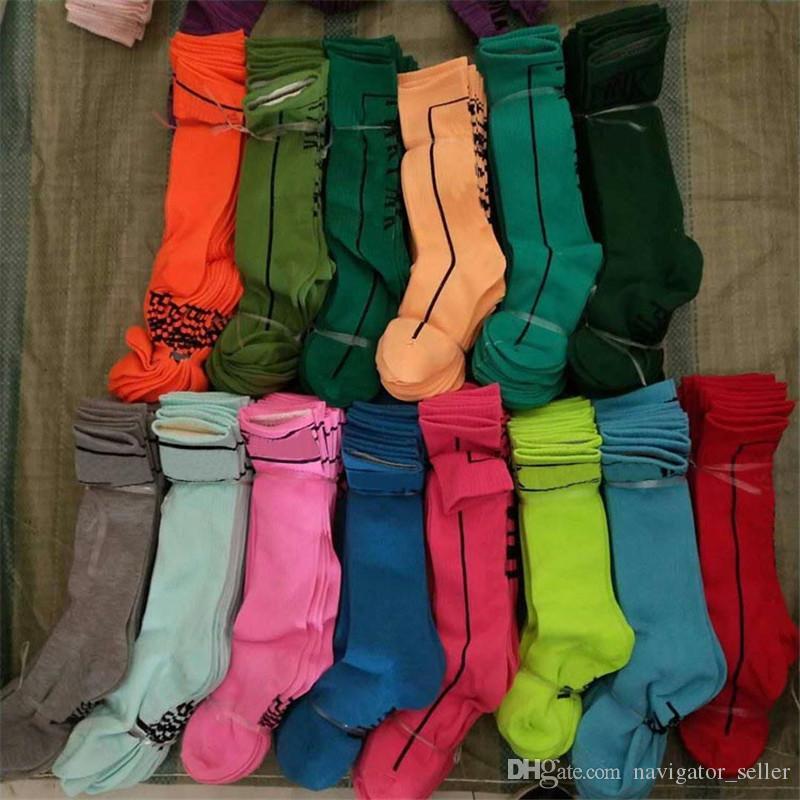 Women Girls Stockings High Socks Fashion Socks Sports Football Cheerleaders Long Socks Cotton Leg Warmers Multicolor Fast Shipping