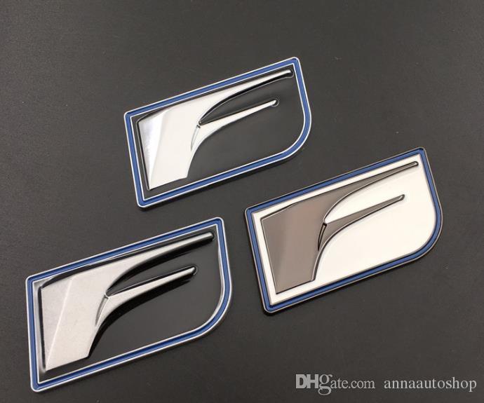 3D Chrome Silver White Metal F Sport Emblem Car Body Decal Badge Sticker Lexus