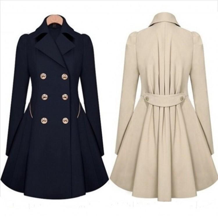 إمرأة معاطف الخريف الربيع مزدوج اعتلى طويل خندق معطف صالح سليم المعطف معطف واق من المطر سترة واقية أنثى معاطف