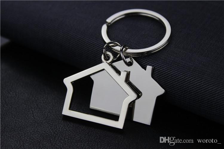 Creative House Shaped Keychains Metal Keyrings house Design car Key Chain Key Pendant Key Holder