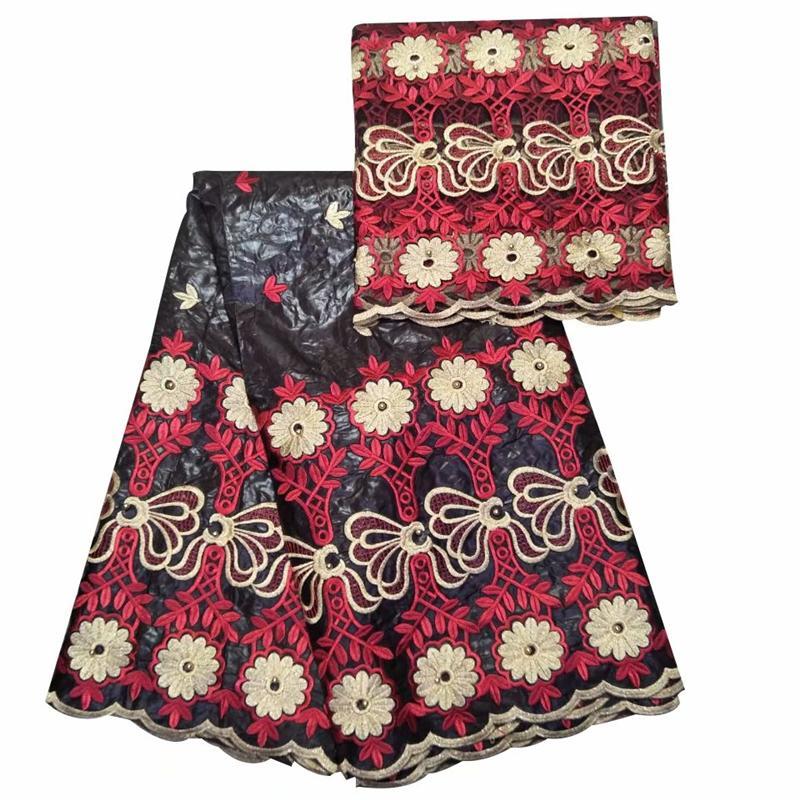 Африканская ткань для вышивания, хлопок, Базен, Рич, Гетцнер, 2019 г. Новая парча из Гвинеи. Африканская ткань.
