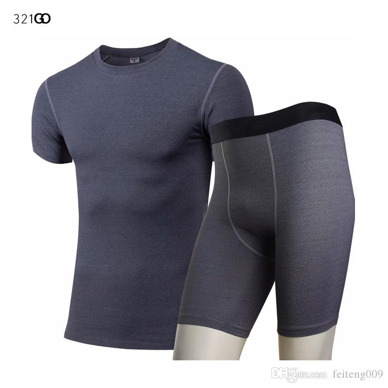 Men/'s Compression Athletic Base Layers Shirt Long Leggings Running Yoga Fitness