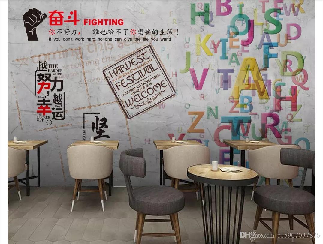 3D обои пользовательские фото фреска обои Европейский ретро ностальгические вдохновляющие цемент стены бар ресторан фреска фон