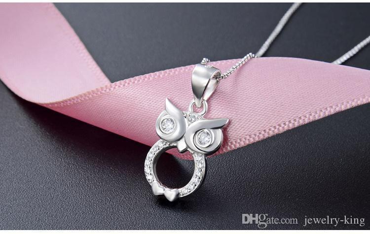Principais presente S925 pingentes de prata esterlina das mulheres de qualidade da namorada por colares de prata esterlina CZ sem cadeia de jóias fábrica A12