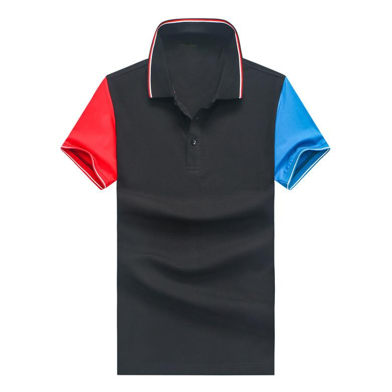 Moda Marka Erkek Polo Yaka İnce Patchwork Tişört Tasarımcı Tomm Pamuk 2020 xxl Siyah Beyaz Lacivert polo-shirt Toptan m, l, xl, Tops