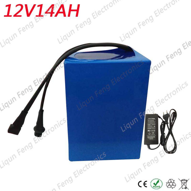 E-bike battery 12V 14AH 350W with 12.6V 2A Charger 20A BMS 12V Lithium Battery Pack 12V for LED Light