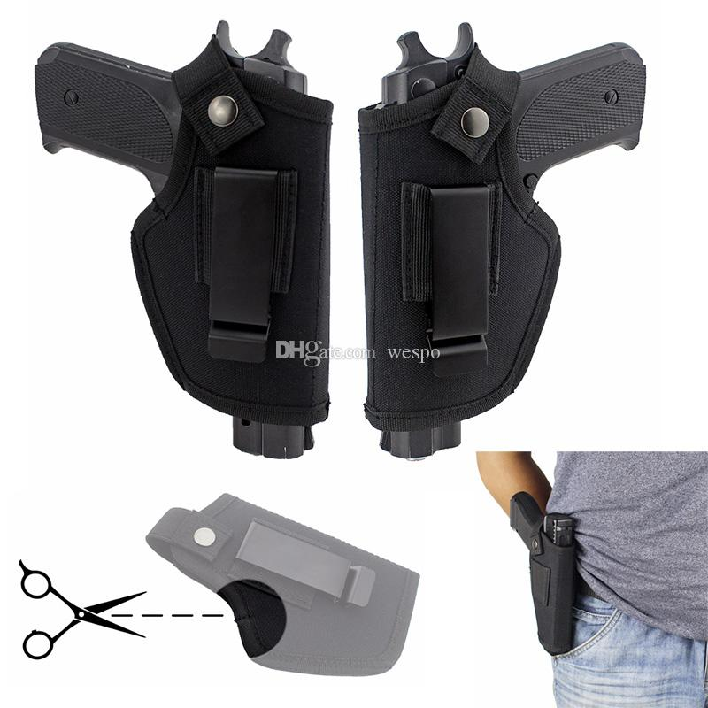 Carry escondido coldre de cinto direita e esquerda clipe de metal Holster Caça Acessórios Airsoft IWB OWB Gun Bag para todos os tamanhos espingardas