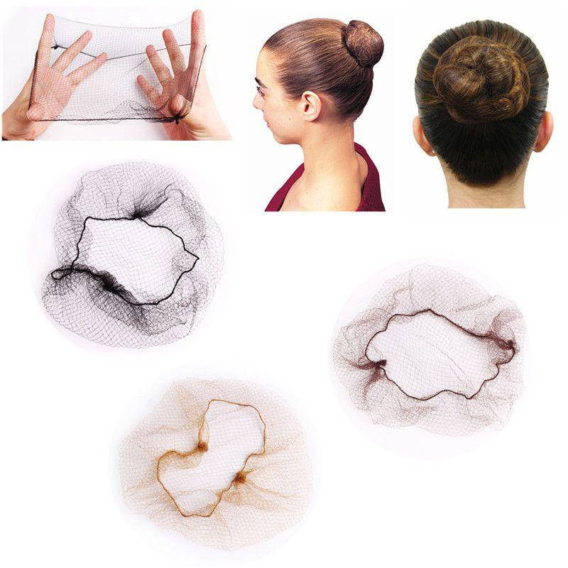 1 pcs filet à cheveux 5mm filets en nylon filets de cheveux invisible jetables filet à cheveux 20inch cinq couleurs Danse Filet pour cheveux pour Bun Styling Beauté