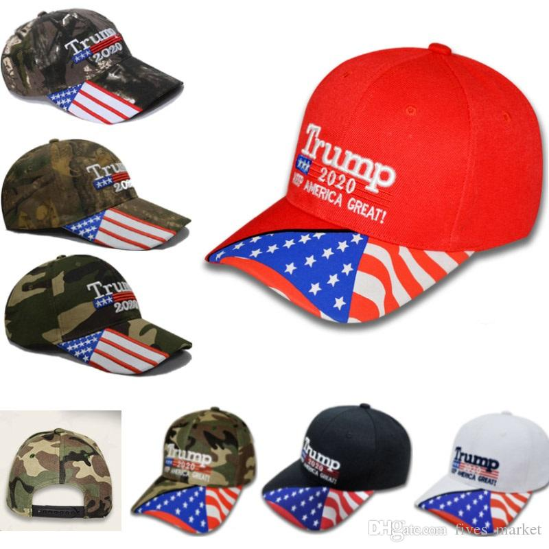 New Trump 2020 Baseball Hats Cap Designer For Keep America Great Again Women Men Casual Snapback Hat Party Cap 7Colors DHL AN1936