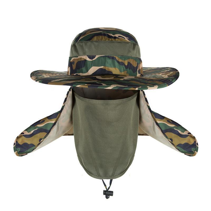 3sets / 많은 얼굴 야외 안티 UV 태양 모자 캠핑 하이킹 남성 / 여성을위한 마스크와 썬 캡 낚시 마스크