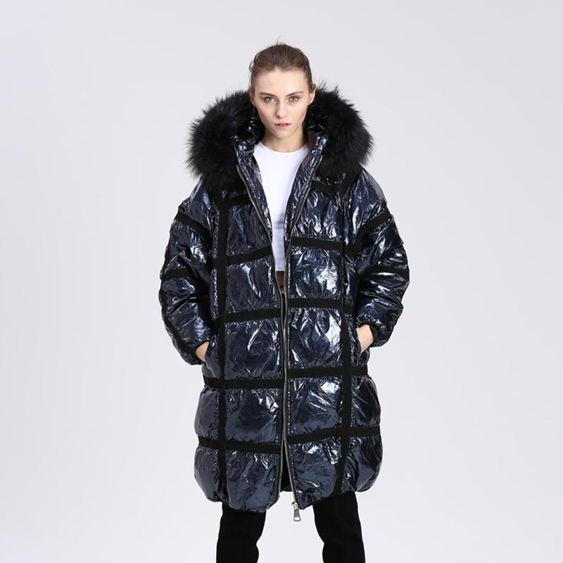 100% quality quarantee new arrive buying cheap 2019 Winter Long Down Parka Women White Duck Down Jacket 2018 Thickening  Raccoon Fur Hooded Collar Silver Down Coats Winter Series From Z02a,  $684.28 ...