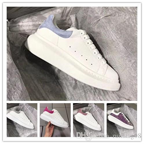 New Season Designer Shoe Fashion Luxury Women Shoes Men's Leather Lace Up Platform Oversized Sole Sneakers White Black Casual Shoes 0n48