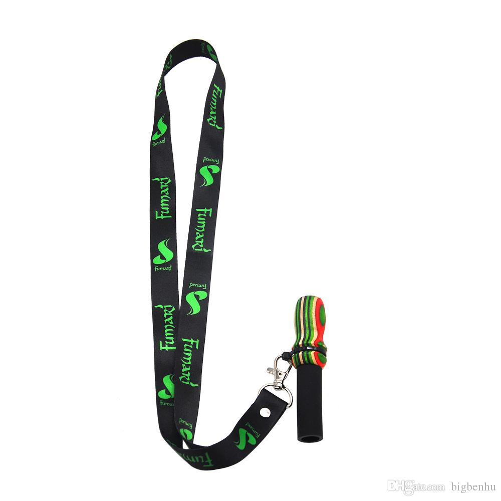 Hang Rope Strap Hookah Mouthpieces Shisha Silicone /& Wood Mouth Tip Hookah CO