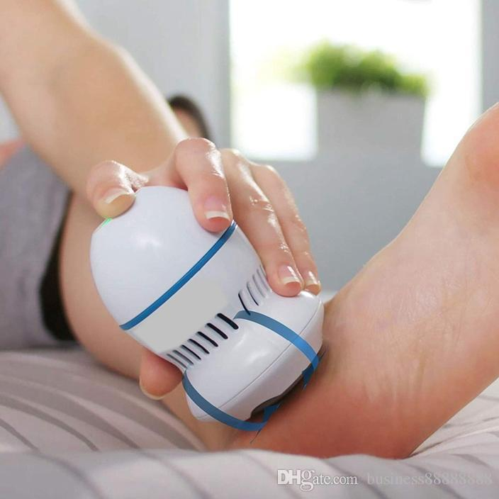 Pedi Vac by PedEgg Foot File and Callus Remover with Built-In Vacuum: Rechargeable Motorized Electric Callus Remover for Feet a