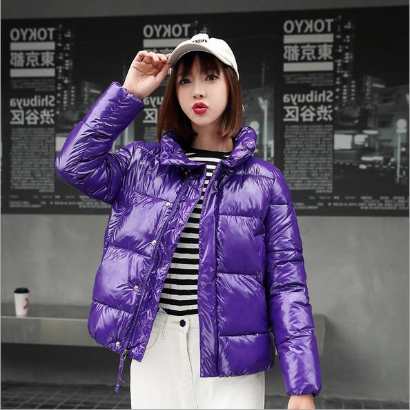 donne del cotone volto luminoso 2019 inverno giù cotone pane di spessore short a maniche corte moda coreana giacca casual