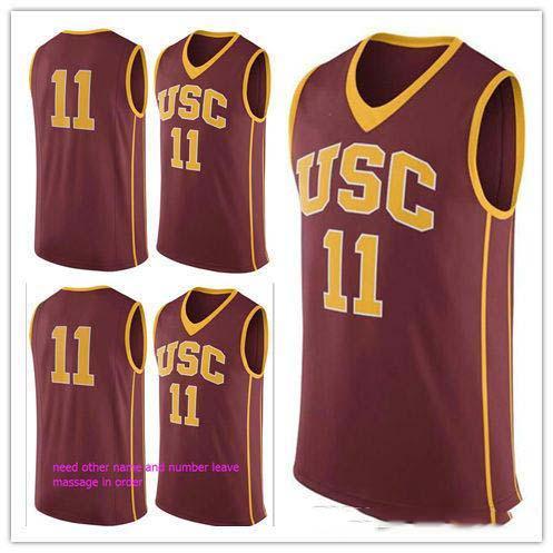 XXS-6XL personnalisé # 11 USC Trojans College Man Femmes jeunesse Basketball Jerseys Taille S-5XL N'importe quel numéro de nom