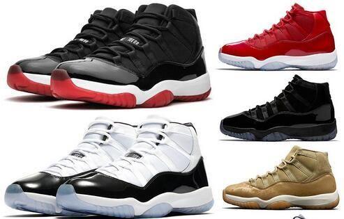 gris vaste Bred élevé 11 11s chaussures de basket-ball Jumpman hommes femmes 45 CONCORD chapeau et robe bleu Légende bas barons l'entraîneur des hommes chaussures de sport avec boîte