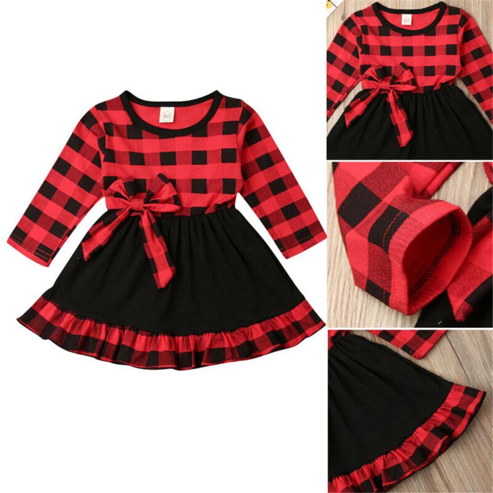 Toddler Christmas Dresses 2020 2020 Cute Toddler Infant Baby Kids Girls Christmas Dress Autumn