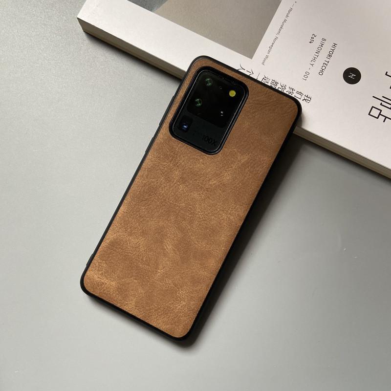 Кожаный чехол для Samsung S20 Ультра простой ретро текстуры кожи телефон дела бизнеса Защитная крышка для Samsung Galaxy S20 Plus
