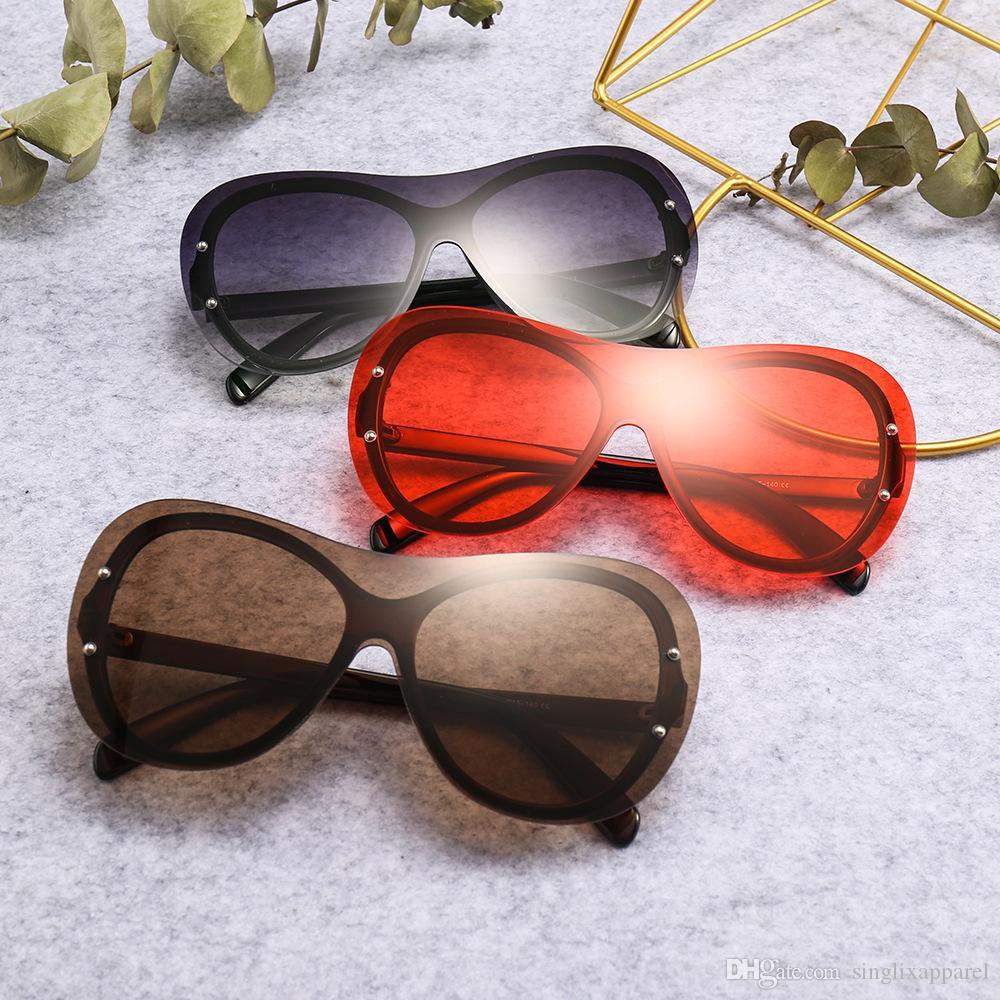 Gafas de sol de la vendimia Gafas de sol Vintage Nuevos Gafas de sol Siameses Siameses Siameses Siameses SIAMESES ROCOS Retro para Unisex Mano sin marco Georr