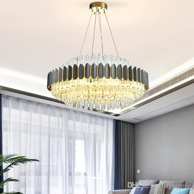 Nouveau design contemporain de luxe lustres en cristal luminaire creative Moderne Led pendentif lustre lampes pour salon chambre