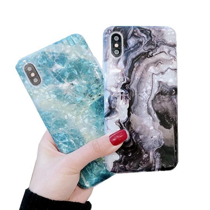 Für Iphone 11 pro xr x xs max 8 7 6 Plus Marmor Pattmuster weich Rück Handy Fall imd Abdeckung Druck