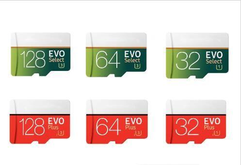 EVO زائد VS EVO حدد 256GB 128GB 64GB 32GB SD مايكرو الذاكرة TF عبر بطاقة فلاش عالية السرعة للهواتف الذكية كاميرات