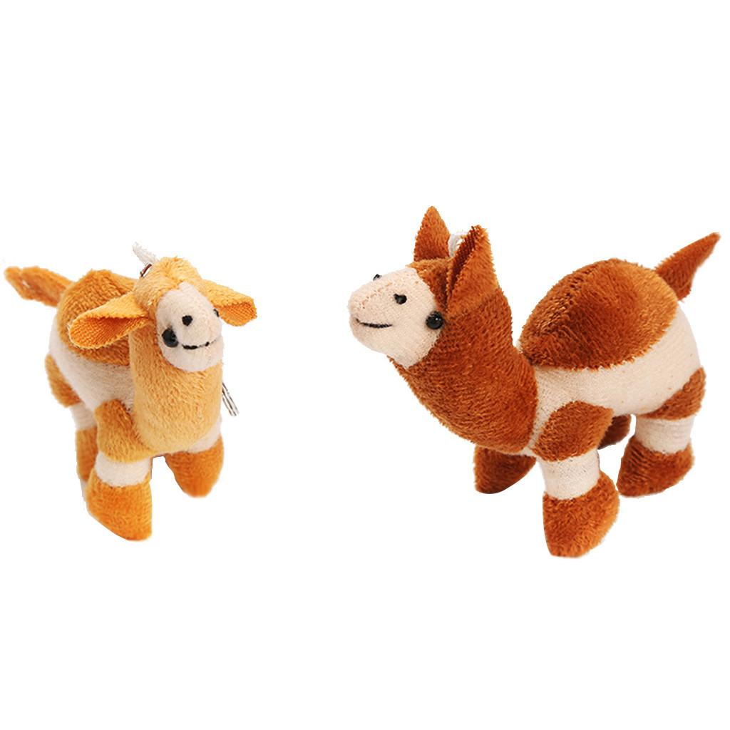 Cute Soft Camel Key Chain Funny Stuffed Kids Gift Toy Plush Baby Fun Educational Toys Birthday Xmas Gifts for Child Kids